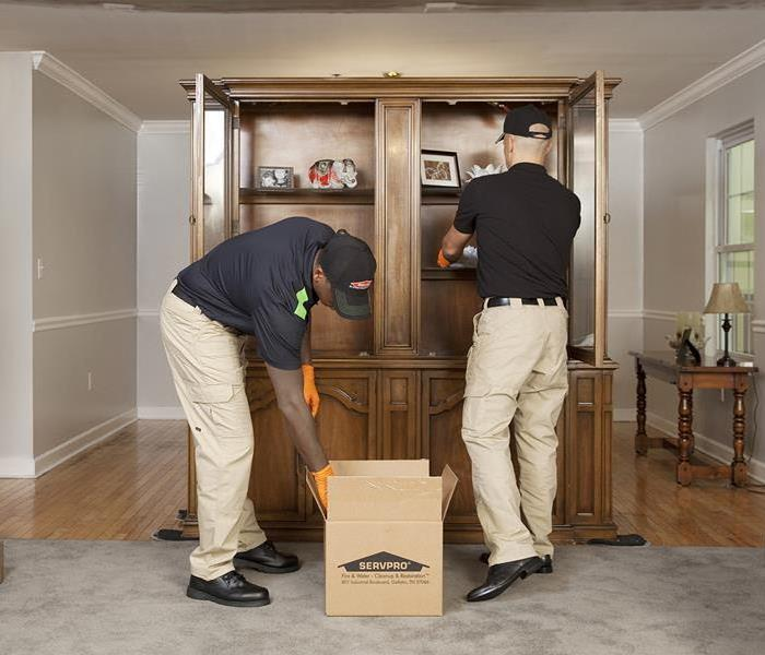 SERVPRO cleaning furniture
